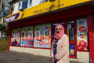 Shakilah Ahmed who owner of the Premier Village Lane Store, Washington Village, which was raided by a man carrying a large knife.