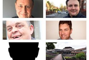 Top row, from left, Michael David Gutowski and Martin Haswell. Middle row, from left, David Lawson and Richard Mulvaney. Grant Shearer did not provide a picture.