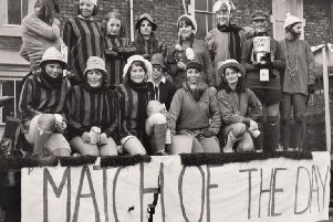 Students from the college collecting for rag day in 1968.