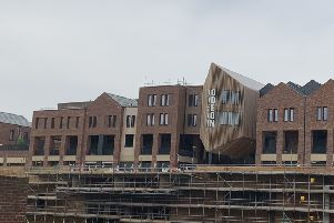 Work continues on the new Odeon cinema.