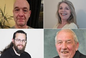 Clockwise from top left, Brian Clare, Kay Rowham, Peter Gibson and Neil Shaplin.