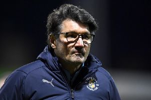 Luton Town boss Mick Harford