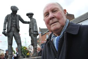 Former Eppleton Colliery under manager Harold Watson at the unveiling of Ray Lonsdale's newly created sculpture in Hetton.