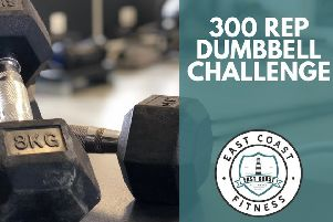 The 300 rep dumbbell challenge.