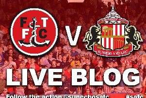 Sunderland AFC travel to Fleetwood Town this evening in League One.