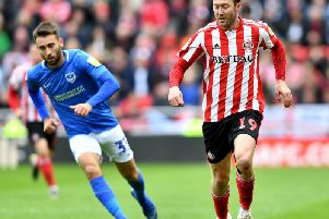 Aiden McGeady in action against Portsmouth.