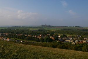 The view from Herrington Hill towards Penshaw.