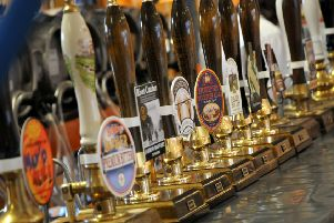 Some of the pumps at at a previous Houghton Beer and Music Festival.