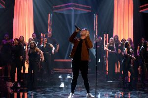 Michael Rice performing during the filming for the Graham Norton Show. PA Images on behalf of So TV
