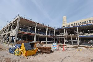 Construction work at The Sands venue building