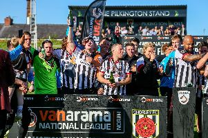 Celebrations after yesterday's win (photo: Stefan Willoughby)