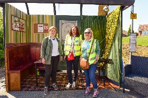Artists Sally Southern (right) and Nicola Lynch (centre) with Sinead Burke (left) of Arts Council England.