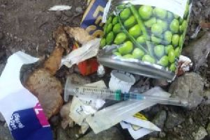 Needles were found dumped on a public footpath in Tupton.