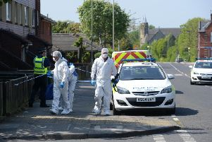 Forensics and police in High Street, Jarrow, earlier this week.