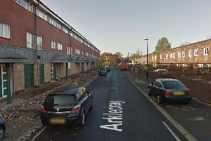 One person have been taken to hospital after a flat fire at Arklecrag in Washington. 'Image by Google Maps.