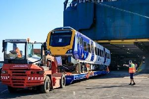 One fo the new Northern trains arriving in the UK