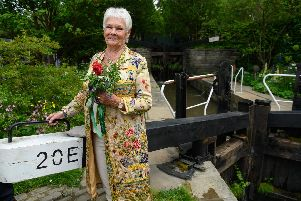 Dame Judy Dench at the RHS Chelsea Welcome to Yorkshire Garden.