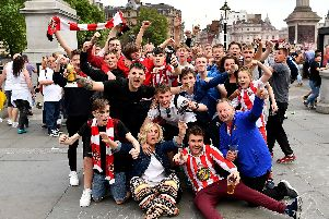 Sunderland fans in London over the play-off final weekend.