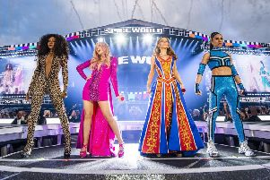 The Spice Girls perform at Croke Park, Dublin. Picture: Andrew Timms/PA Wire