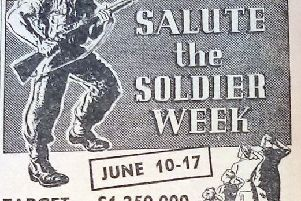 The Sunderland Salute The Soldier advert which encouraged Wearside people to raise money for the DLI battalions in 1944.