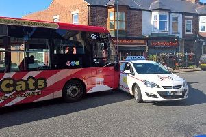 The bus and taxi had collided on Chester Road