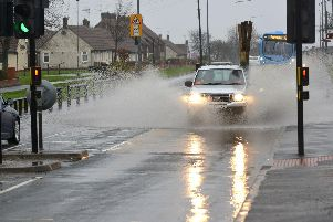 File picture: Rain fall and flooding at Seaham, Sunderland