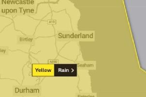 Severe weather is due to hit the region and a yellow warning is in place from midnight.