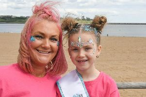 Ashleigh Lownie has organised a sponsored walk from South Shields to Sunderland, on Sunday, to raise awareness of cervical cancer and raise money for Amber's Law. Ashleigh with daughter Quinn, six.