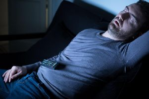 Falling asleep in front of the television can lead to weight gain, research has found.