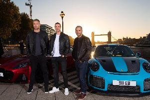 (from left) Andrew 'Freddie' Flintoff, Paddy McGuinness and Chris Harris are the new Top Gear presenting team
