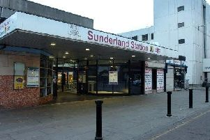 The main entrance to Sunderland Railway Station.