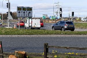 Firefighters were called to Testo's Roundabout, where roadworks will be carried out for the next two years, following a car fire.