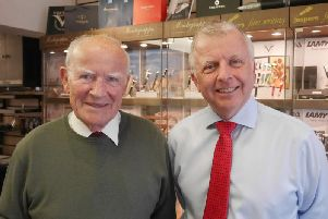 End of an era - Charles and Peter Jesper who have retired from their famous family business.
