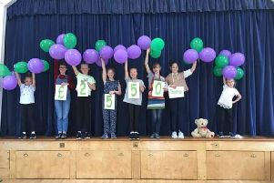 Young Fundraisers Left to Right - Lottie, Izzy, Beth, Emily, Lily, Ellie, Gracie & Eva.