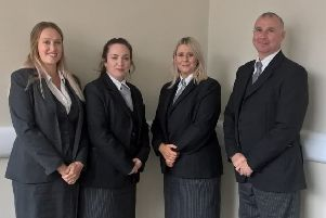 The Scarborough Funeralcare team pose for a picture.