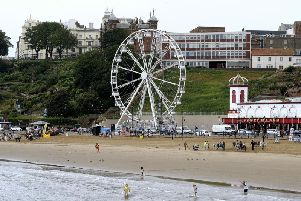 The observation wheel on Scarborough seafront