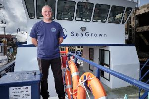 Wave Crookes, director at SeaGrown, said the money helped pay for important equipment.