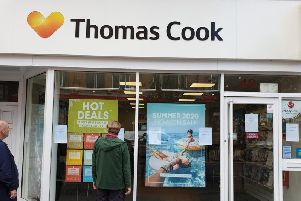 The former Thomas Cook branch in Scarborough