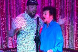 Jason Manford sings a duet with musician Danny Wilde earlier this year