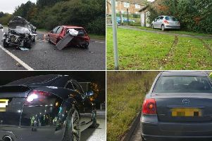 Cars seized by Derbyshire police in the last week