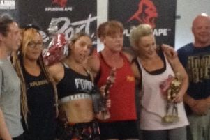 Stephanie Clark, pictured second left