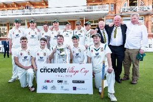 Flixton with the Cricketer National Village Cup. Picture by Will Palmer.