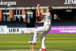 Jake Hatton in action at Lord's for Flixton in their National Village Cup final success