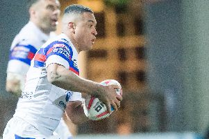 Wakefield Trinity's Reece Lyne who has won his first England call-up. (Allan McKenzie/SWpix.com)