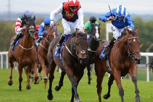 Racing action from Pontefract Racecourse this season. Picture: Alan Wright