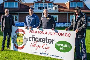 Flixton have erected a new banner to commemorate their National Village Cup win at Lord's