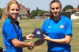 Sherburn's Leah Dobson (right) has been handed a place on the England Women's winter pathway scheme
