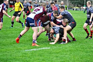 Scarborough in action during their 29-26 defeat at Huddersfield YMCA earlier in the season