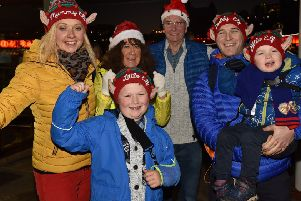 Scarborough Christmas light  switch on..on Foreshore Road. Santas little helpers enjoy the night  pic Richard Ponter