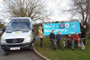 Making the most of bikes from one of the new Yorkshire Bank Bike Libraries (Sherwoods Mini Bus Hire)